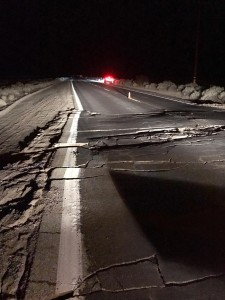 Road Damage due to the M7.1 Earthquake in Southern California on July 5, 2019
